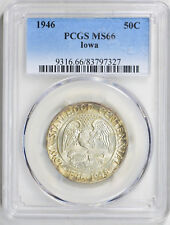 1946 50C Iowa Silver Commemorative PCGS MS 66