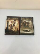 2 Dvds: Lord of the Rings - Fellowship of Ring, Two Towers