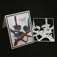 Stanzschablone Vogel Zweig Weihnachten Hochzeit Geburtstag Karte Album Tagebuch