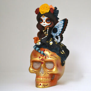 Jasmine Becket-Griffith JBG SPIRIT OF THE BLESSED PEACE Skull Glow-In-The-Dark