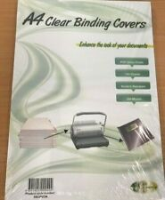 250 Micron A4 Clear PVC Binding Covers 100 Sheets