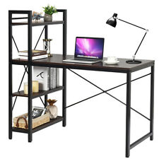 Home Office Modern Computer Desk W/ 4-Tier Shelves Pc Workstation Study Table