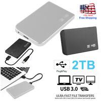 "Portable USB 3.0 2TB External Hard Drive For Desktop Laptop Hard Disk 2.5"" HDD"