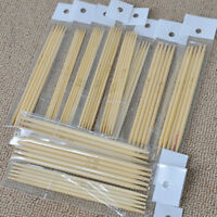 ALS_ 55Pcs Double Pointed Bamboo Knitting Needles Sweater Glove Knit Tool Set Ne