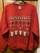Lagunitas Brewing Xl Cali Beer Santa Petey the Dog Xmas Ugly Sweatshirt