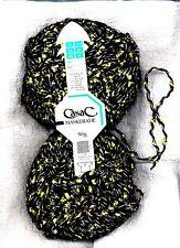 50g schwarzes Strickgarn mit Multicolour Lurex + Mohair Italienische Effektgarn