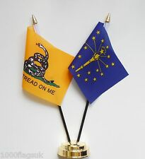 Gadsden & Indiana Double Friendship Table Flag Set