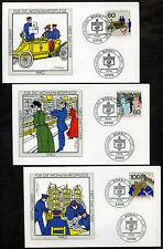 FDC BRD 1990 Mi 1474-1476 Wohlfahrt Geschichte der Post u. der Telekommunikation