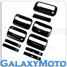 04-14 Ford F150 Gloss Black 4 Door Handle+no keypad no KH+ Tailgate Cover Kit