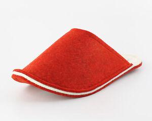 RAUMGLEITER® BASICO rot red / Filzpantoffeln Pantoffel Hausschuhe