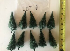 (LOT 6) LOT OF 10 TREES HO SCALE LIKE NEW