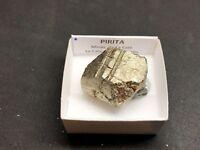 PIRITA - Pyrite - La Cala, Huelva - CAJITA - SPAIN MINERAL BOX 4x4 cm #F44