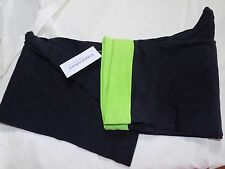 YogaColors Crystal Cotton Spandex Jersey Yoga Pant 8300 (Large, Lime/Black)