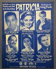 ►PARTITION - LUIS MARIANO // ANNIE CORDY // PEREZ PRADO // - PATRICIA - 1958