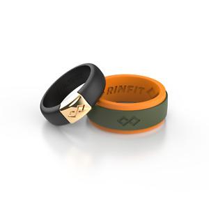 Silicone Wedding Rings| Wedding Band for Men & Women- 2 Ring pack- RINFIT