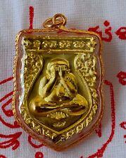 Pendant Phra pidta Back Rahu om Jan (Moon) Talisman Yant Thai amulet successful