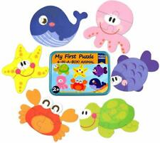Jigsaw puzzles for kids 3 + 4 + 5 + 6 pieces 6 patterns Marine series