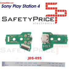 JDS-055 JDS-050 CONECTOR CARGA MANDO PS4 PLACA CORRIENTE MICRO USB + FLEX 12 PIN