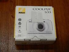 Open Box - Nikon Coolpix S33 13.2MP Waterproof Camera - WHITE - 018208264957