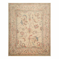 """8'5"""" x 10'7"""" Hand Knotted 100% Wool Oushak Oriental Area Rug Tan Traditional"""