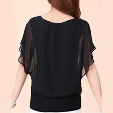 PLUS SIZE WomenS Summer Loose Top Short Sleeve Blouse Ladies Casual Tops T-Shirt