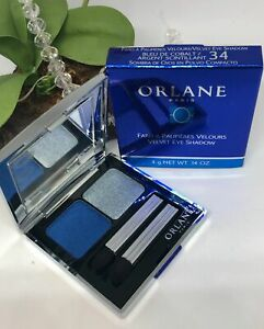 Orlane Velvet Eye Shadow Duo - 34 Cobalt Blue / Sparkling Silver - New in Box
