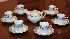 """Michielotto. Set 6 tazzine caffè + brocchetta """"Town House Collection"""" - Nuove."""