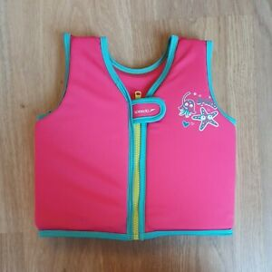 Girls Speedo Sea Squad Pink Float Jacket / Swim Vest Age 1-2 Years VGC