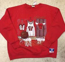 Vintage Men's Nutmeg Michael Jordan Chicago Bulls Crew Sweatshirt Size XL