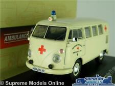 VOLKSWAGEN TRANSPORTER T1 AMBULANCE MODEL VAN 1:43 SCALE IXO ATLAS 7495012 VW K8