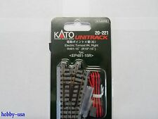 KATO N Unitrack Turnout #4 Right Switch Track   KAT20221-NEW