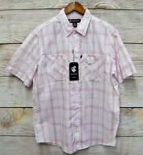 Rocawear Mens Size XLarge White & Red Plaid Classic Fit Button Down Shirt New