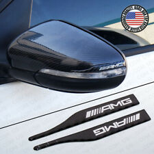 Carbon Fiber Car Mirror Cover Protect Scratch Scratchproof Badge for AMG Sport