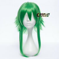 Green Anime Vocaloid Gumi Megpoid  Heat Resistant Cospaly  Party Wigs+Cap