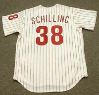 3a623814f CURT SCHILLING Philadelphia Phillies 1993 Majestic Throwback Baseball Jersey