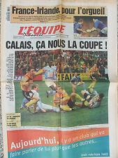 L'Equipe du 19/3/2000 - Foot Calais en 1/2 - France-Irlande  en Rugby - Zabel