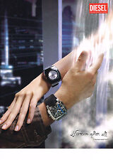 PUBLICITE ADVERTISING 054  2007   DIESEL   collection montre