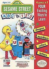 Sesame Street ABC & 123 (Nintendo Entertainment System, 1991) GAME ONLY NES HQ