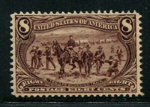 1898 Trans-Mississippi Expo Issue 8c violet brown Scott 289 MNH cat $500