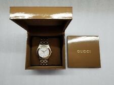 GUCCI G-CLASS DRESS WHITE DIAL DATE TWO-TONE ST.STEEL MEN'S WATCH YA055214 NEW