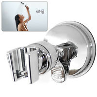 Shower Head Holder Chrome Bathroom Wall Mounted Adjustable Suction Mount Bracket