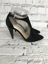 KAREN MILLEN - Black Suede Ankle Strap Pointed Toe High Heels - Womens - Size 6