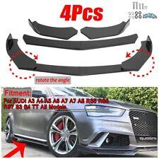 For AUDI A3 S3 A4 S4 A5 S5 RS5 A7 A8 R8 TT Carbon Fiber Look Front Bumper Lip