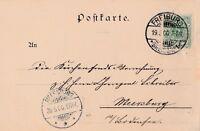 Postkarte verschickt von Freiburg nach Meersburg aus dem Jahr 1900 Reichspost
