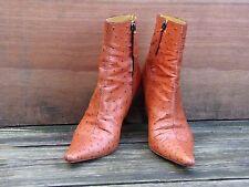 GORGEOUS! Giuseppe Zanotti Ostrich Rusty brown Leather Boots EU 37/UK 4