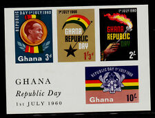 GHANA    SCOTT# 81a   MNH    DECLARATION OF THE REPUBLIC SOUVENIR SHEET