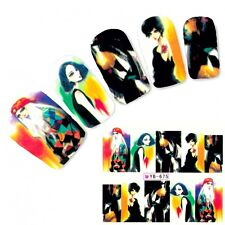 Tattoo Nail Art Aufkleber Model Manga Japan Anime Water Decall