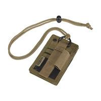 OneTigris Tactical ID Card Holder Hook & Loop Patch Badge Holder Neck Lanyard