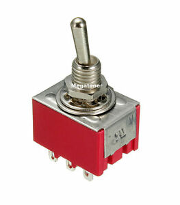 (1 PC) 3PDT Mini Toggle Switch ON-OFF-ON Solder Lug, High Quality. USA SELLER!!!