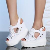 Occdient Summer Fashion Wedge High Heels Platform Sandals Womens Open Toe Shoes